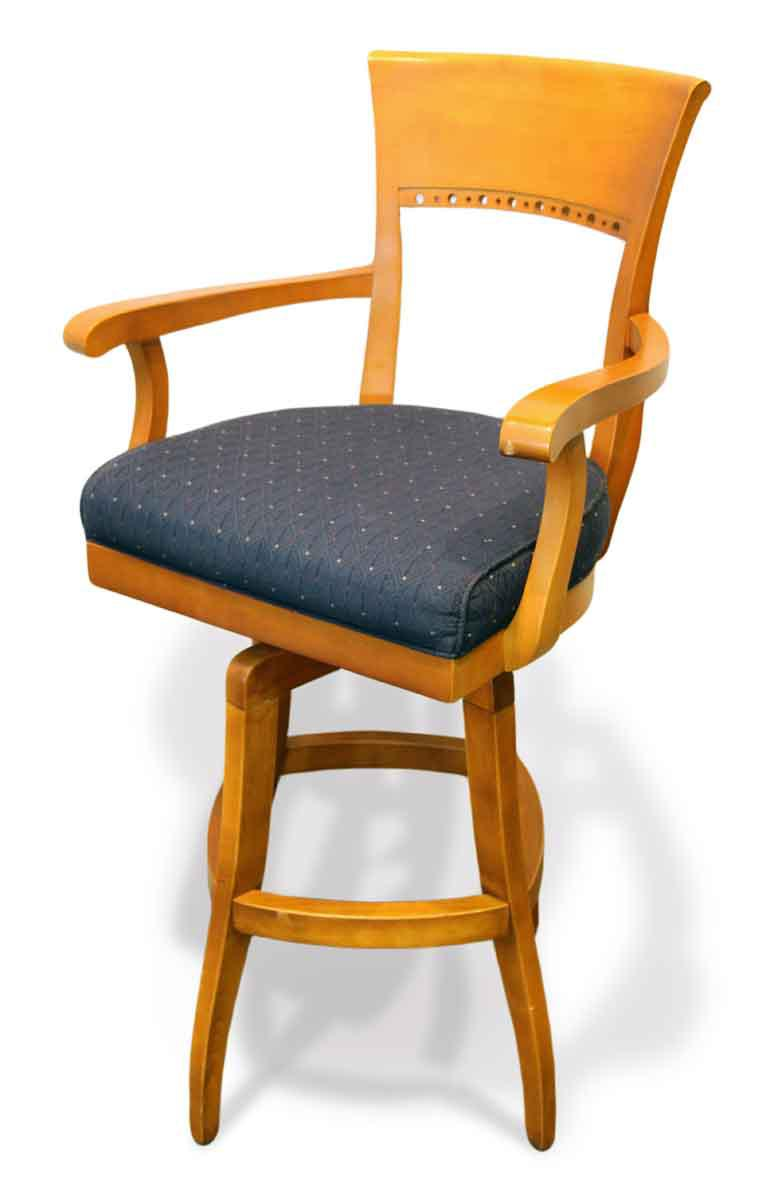 Blue High Top Swivel Chair   Image 2 Of 7