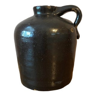 Final Price! Antique Pottery Jug With Handle For Sale