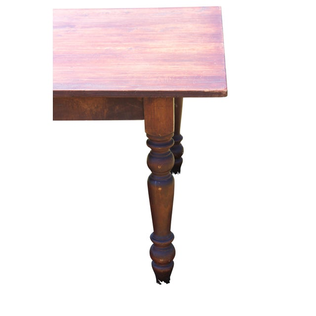 Large Rustic Farm Table For Sale In Boston - Image 6 of 12