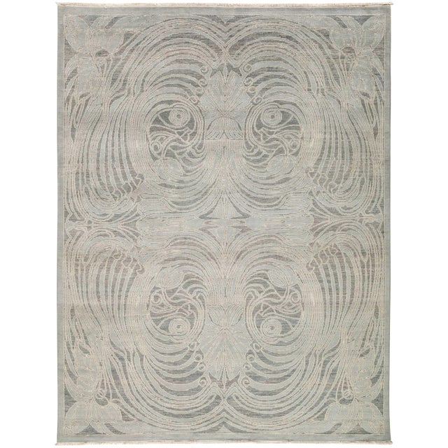 """New Contemporary Hand Knotted Area Rug - 8' x 10'3"""" - Image 1 of 3"""