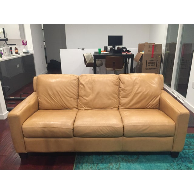 Divani Chateau D Ax Tan Italian Leather Sofa Chairish