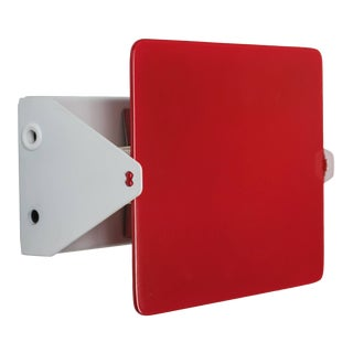 Charlotte Perriand Red 'Applique á Volet Pivotant' Wall Lights For Sale