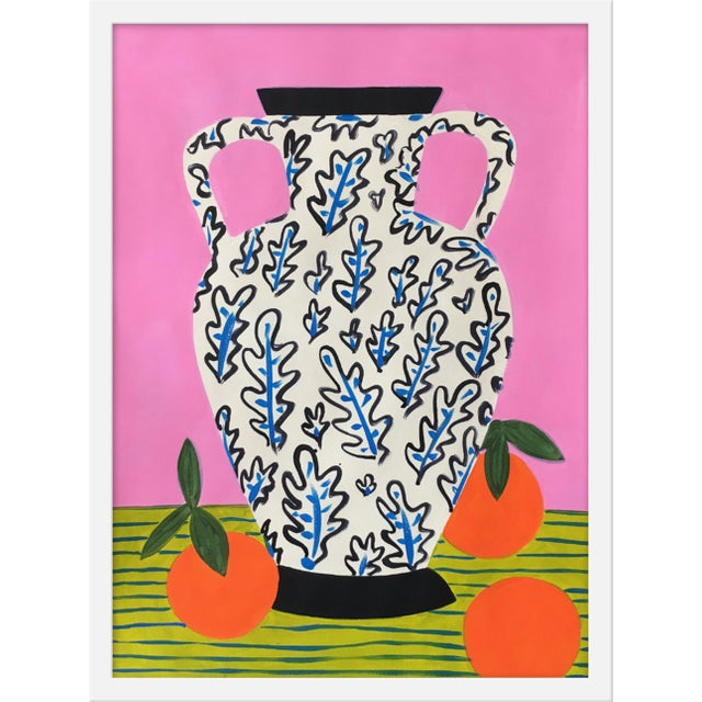 """Contemporary Medium """"Vase With Oranges """" Print by Jelly Chen, 19"""" X 25"""" For Sale - Image 3 of 3"""