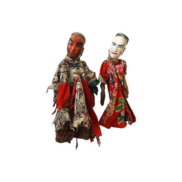 Folk Art Theater Opera Doll Puppets - A Pair - Image 2 of 6