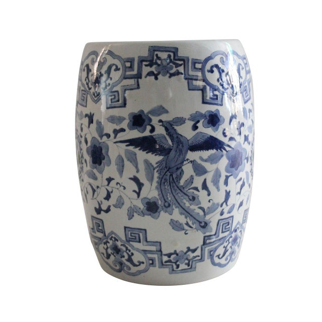 Chinoiserie Porcelain Garden Stool - Image 1 of 3