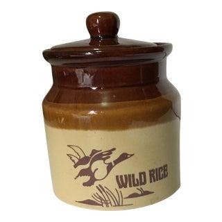 "Vintage Ceramic Dish ""Wild Rice"""