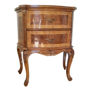 20th Century Italian Rococo Style 2-Drawer Side Table For Sale