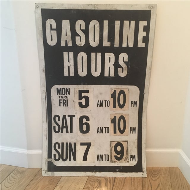 Vintage Gasoline Station Sign - Image 2 of 4