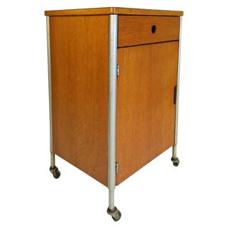 Raymond Loewy Industrial Rolling Cabinet For Sale