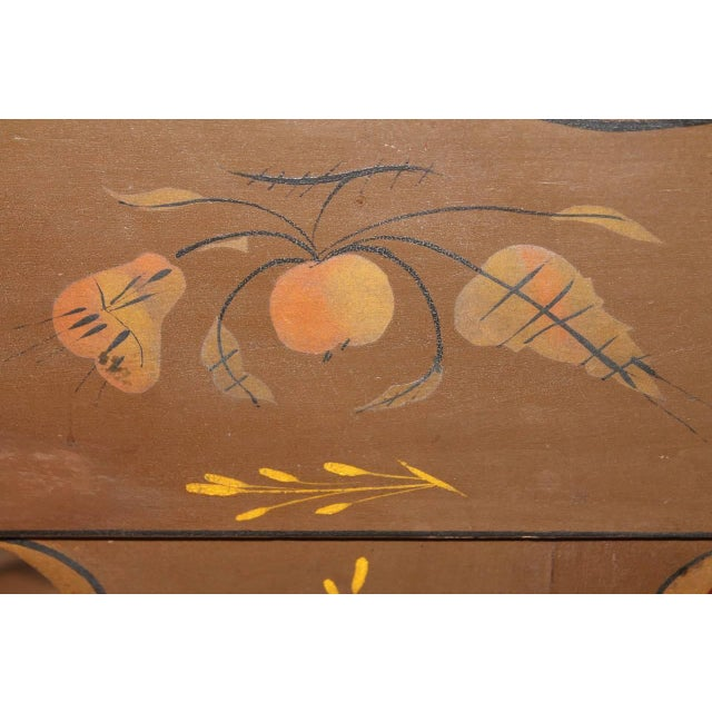Finely Decorated and Painted 19th Century Settle Bench from Pennsylvania For Sale - Image 10 of 10