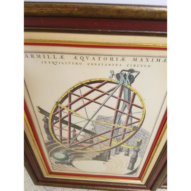 Vintage Hand Colored Armillary Prints - a Pair - Image 4 of 7