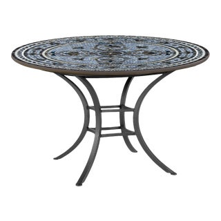 """Roma 42"""" Bistro Table with Black Iron Base For Sale"""