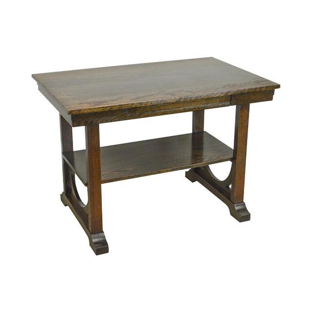j.k. Rishel Antique Arts & Crafts Mission Oak Library Table Desk No. 811 For Sale - Image 13 of 13