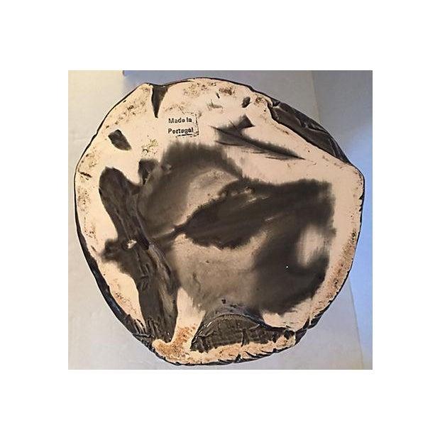 Ceramic Dark Gray Vase with Leaf Design For Sale - Image 7 of 7
