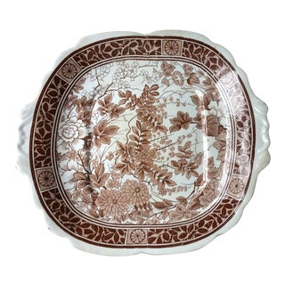 Antique Early 19th Century Staffordshire Cake Plate For Sale