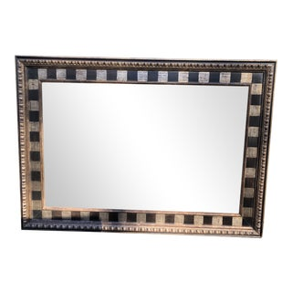 Gigantic Rectangular Checkerboard Mirror With Silver and Gold For Sale