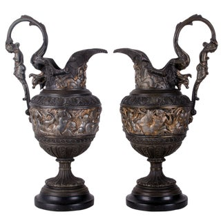 Antique Renaissance Revival Triton Ewers For Sale