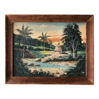 Vintage Tiki Painting III For Sale