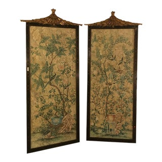 Monumental Chinese Wall Panels by Dessin Fournir - A Pair