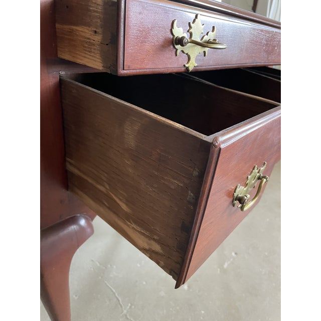 Wood 19th Century Queen Anne Style Solid Mahogany Chest With Cabriole Legs For Sale - Image 7 of 13