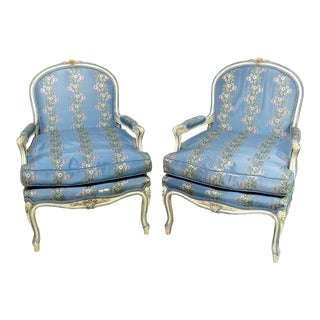 Louis XV Style Fauteuil Chair - a Pair