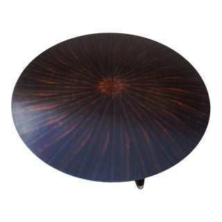 Vintage Round Mahogany Coffee Table by Scott Thomas For Sale