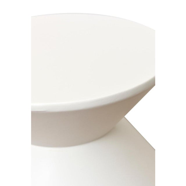1970s Pair of Sirmos Plaster of Paris Modernist Sculptural Side Tables/Tables For Sale - Image 5 of 10