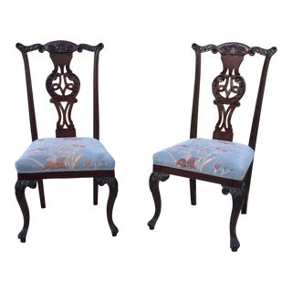Antique Chippendale Side Chairs - a Pair For Sale