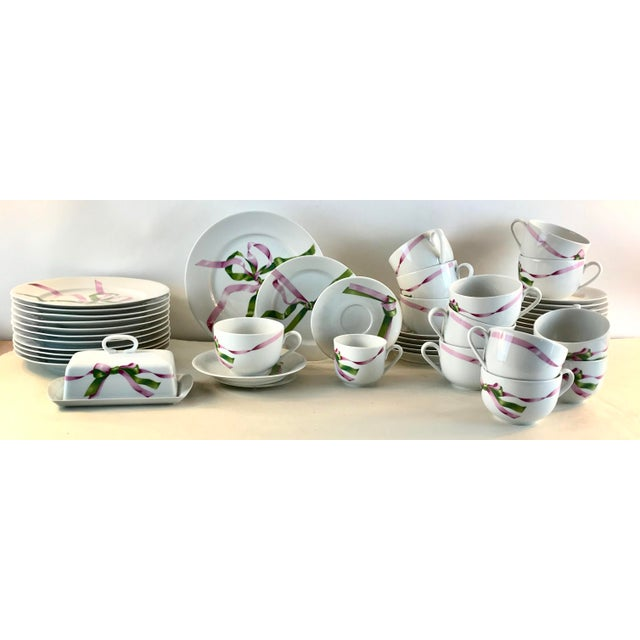 Expressionism Vintage Jacques Coeur Dinnerware-Set of 49 For Sale - Image 3 of 13