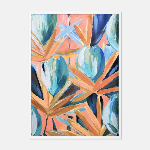 Contemporary Lyford 2 by Lulu DK in White Framed Paper, Small Art Print For Sale - Image 3 of 3