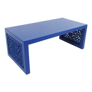 20th Century Asian Modern Blue Coffee Table For Sale