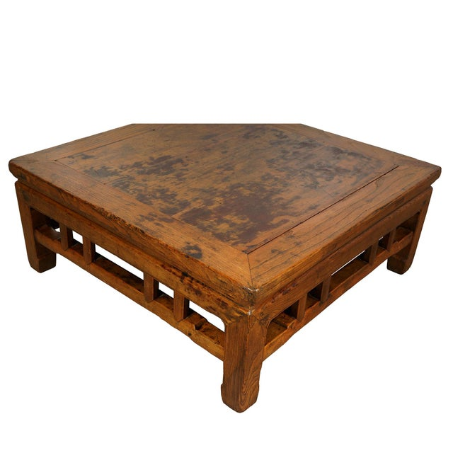 Chinese Antique Chinese Carved Kang Table/Coffee Table For Sale - Image 3 of 12