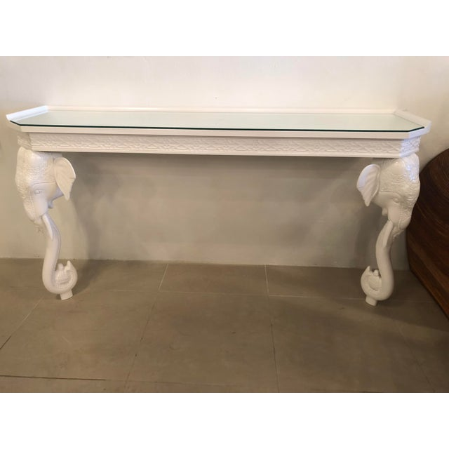 Vintage Gampel and Stoll elephant wall console table. This mounts directly to the wall. This has been professionally...