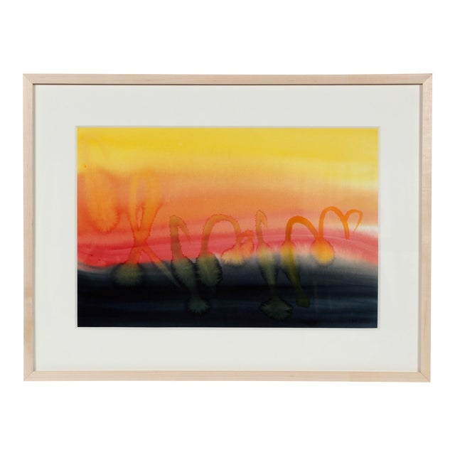 Hugh Wiley Abstracted Sunset by H. Wiley For Sale - Image 4 of 4