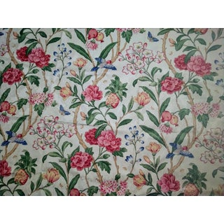 P. Kaufmann Jacobean Floral Print Fabric - 1 Yard For Sale