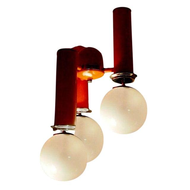 Italian Mid-century Light Fixture - Image 1 of 2