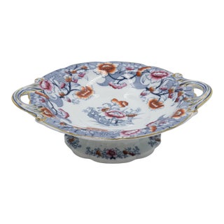 19th Century English Imari Porcelain Compote For Sale