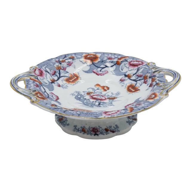 19th Century English Imari Porcelain Compote For Sale