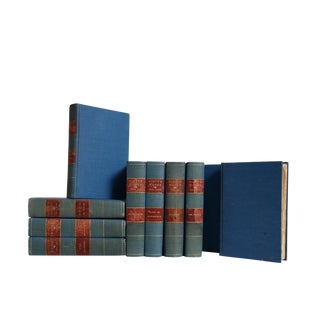 Decorative Teal Blue Weathered Novels: Sir Walter Scott