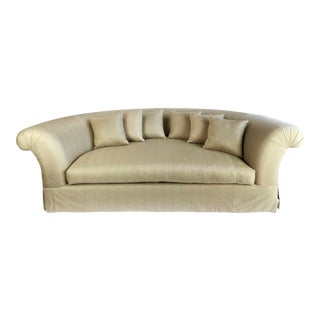 21st Century Marge Carson Monumental Circular Silk Snakeskin Sofa For Sale