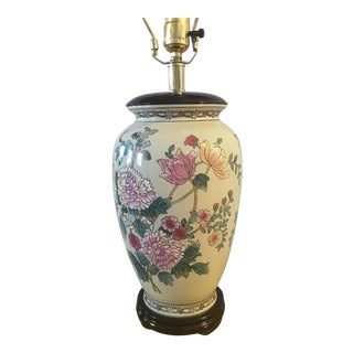 Chinese Floral Lamp For Sale