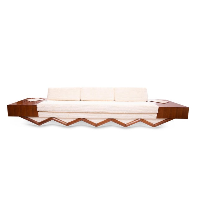 Adrian Pearsall Sculpted Walnut Sofa For Sale In Phoenix - Image 6 of 6
