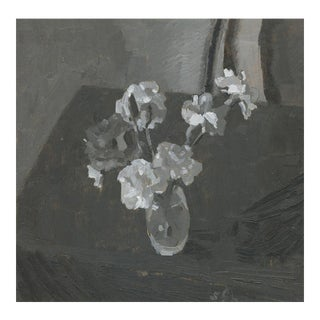 Grisaille Carnations Still Life Floral Painting For Sale