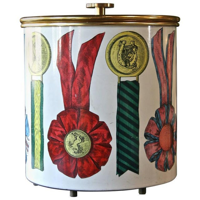 Gold Piero Fornasetti Ice Bucket For Sale - Image 8 of 8