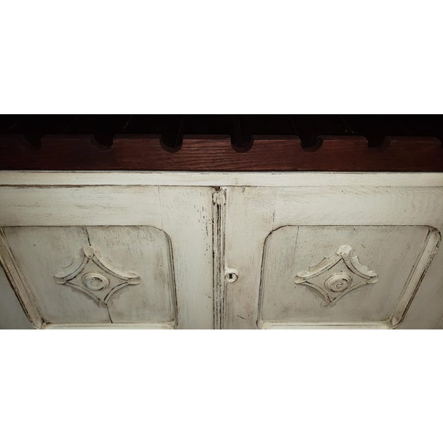 Wood Circa 1880 Farmhouse Style Buffet With Wine Rack For Sale - Image 7 of 11
