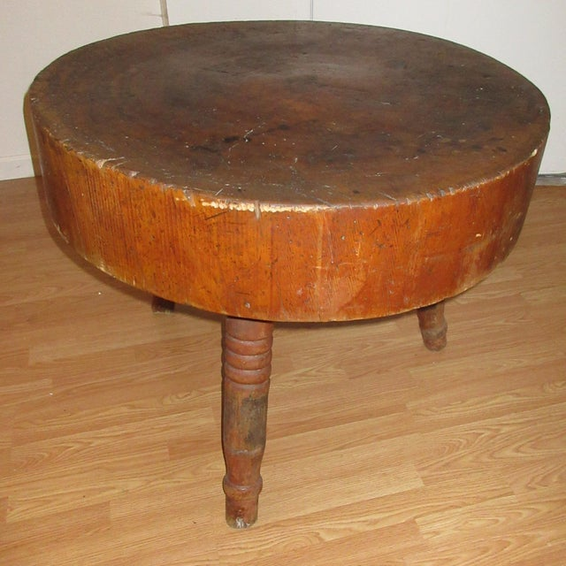 American Butcher Block Table Early 19th Century American For Sale - Image 3 of 6