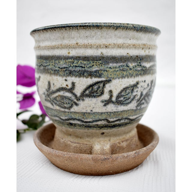 Traditional Vintage Small Flower Pot For Sale - Image 3 of 4