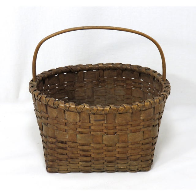Reed 20th Century Rustic Maine Woven Basket For Sale - Image 7 of 13
