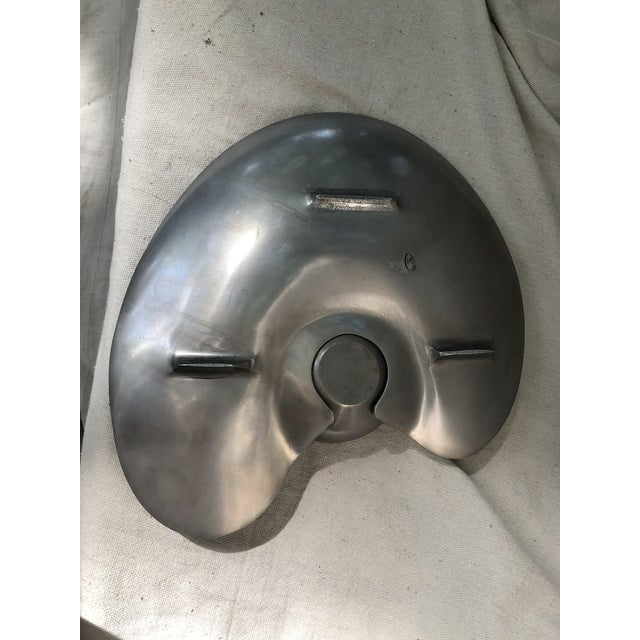 Mid 20th Century Modernist Cast Aluminum Platter With Detachable Bowl For Sale In Orlando - Image 6 of 8