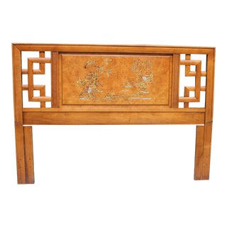 Henry Link Bali Hai Painted Chinoiserie Full/Queen Headboard For Sale